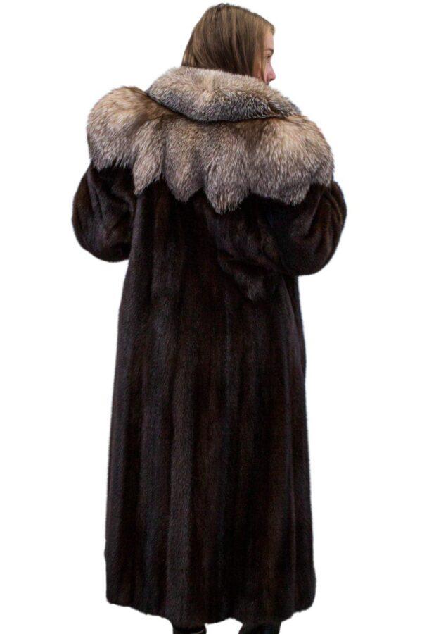Mink Coat with Fox Trim - Morris Furs