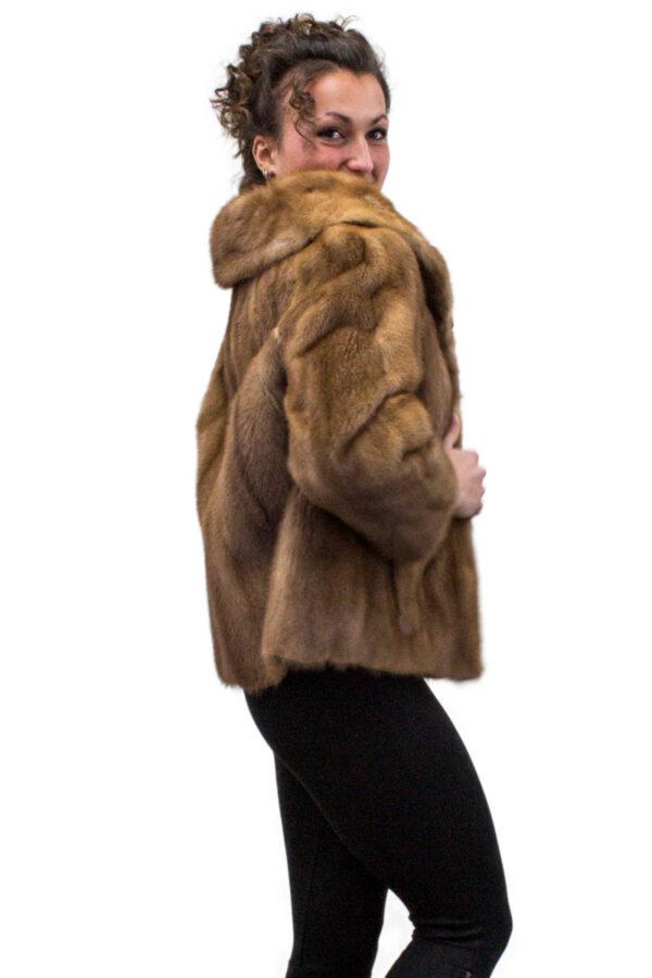 Vintage Dark Pastel Mink Jacket