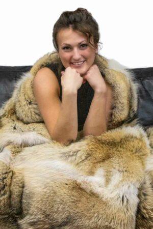 Coyote Fur Blanket