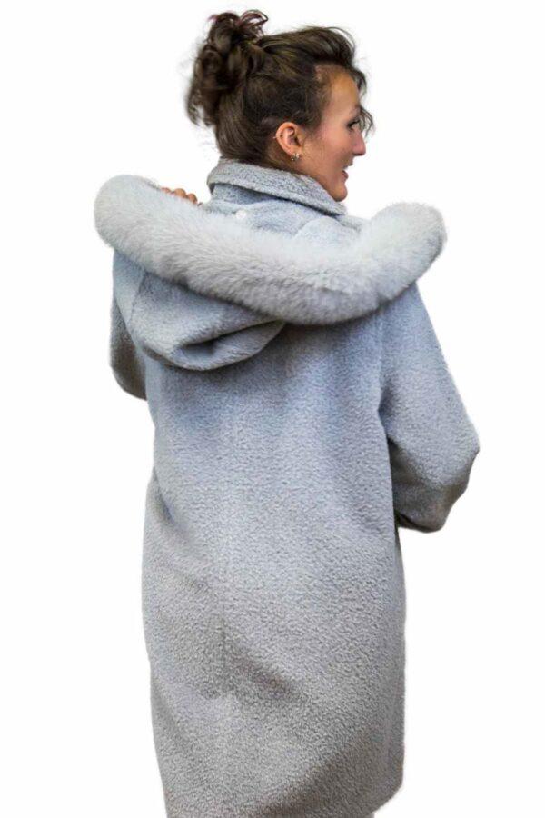 Alpaca & Wool Jacket with Fox Fur