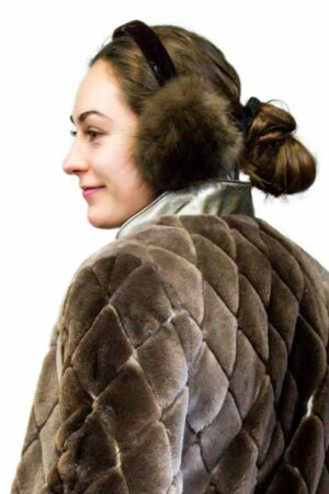 Sable Earmuffs lined with Sheared Beaver