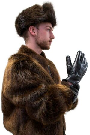 Sheepskin Lined Lamb Leather Gloves