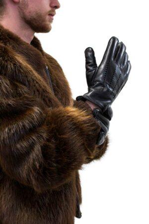 Sheepskin Lined Lamb Leather Gloves