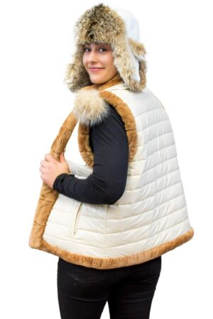 Reversible Sheared Beaver Quilted Vest