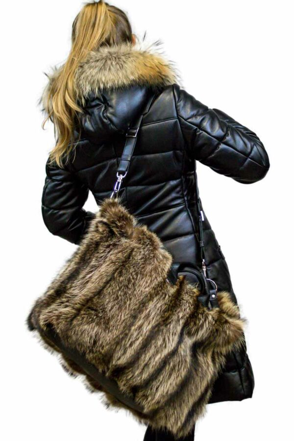Natural Raccoon Fur Bag