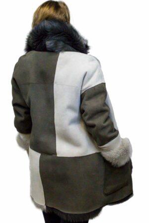 Alabaster Suede Toscana Shearling Jacket