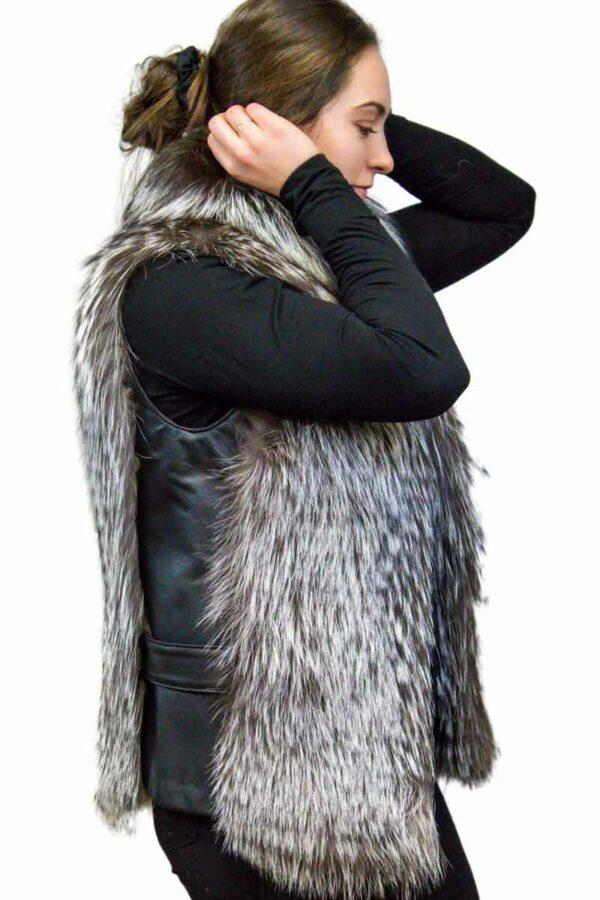 Fox Fur & Leather Vest