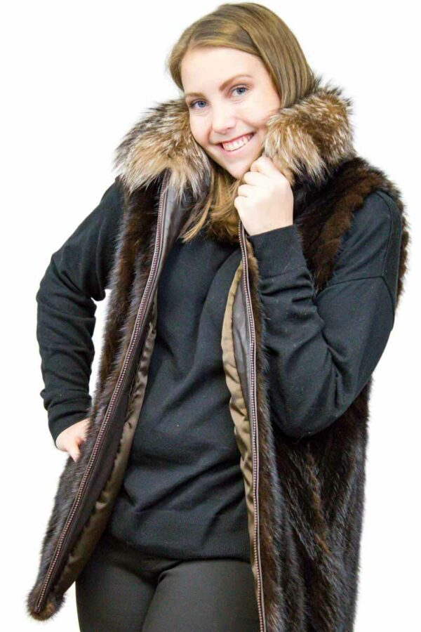 Mink Tail Vest with Fox Fur