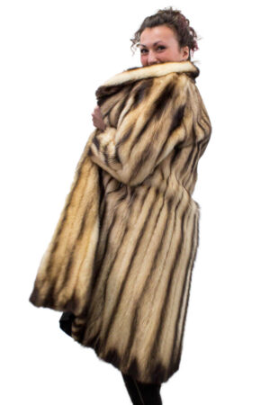 Vintage Natural Fitch Coat