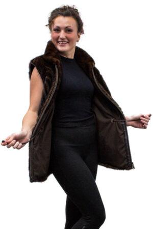 Vintage Mahogany Mink Tail Vest
