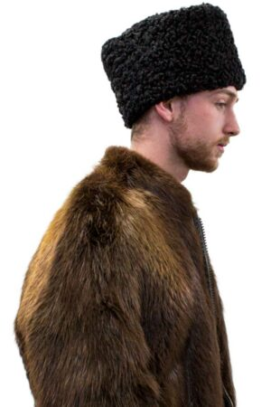 Vintage Black Persian Lamb Hat