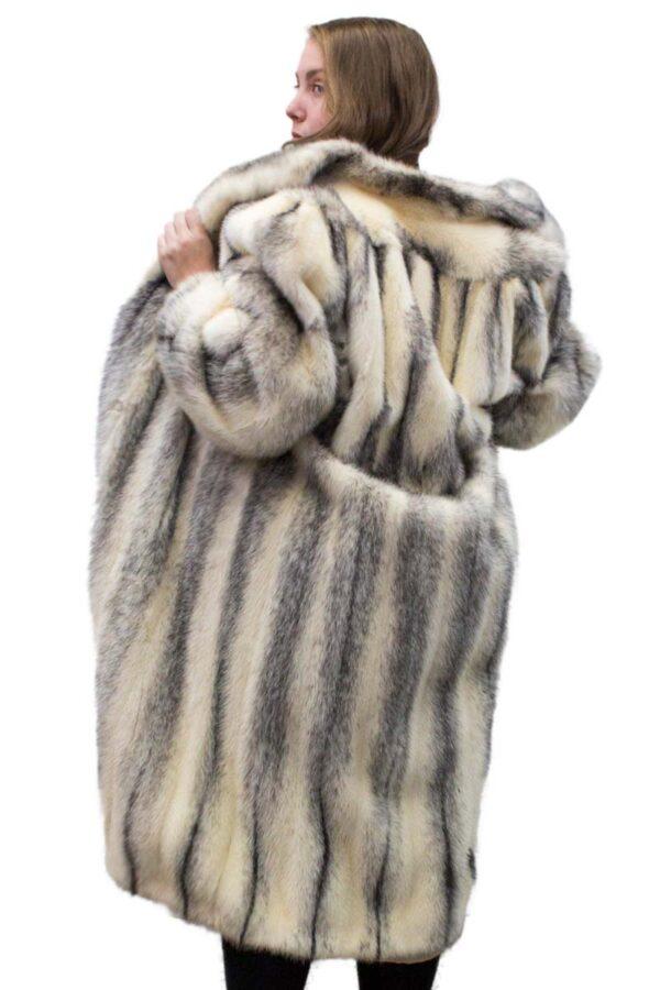 Vintage Black Cross Mink Coat